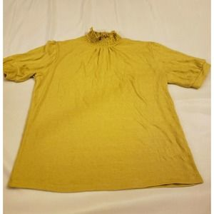 W5 yellow short sleeve top size L